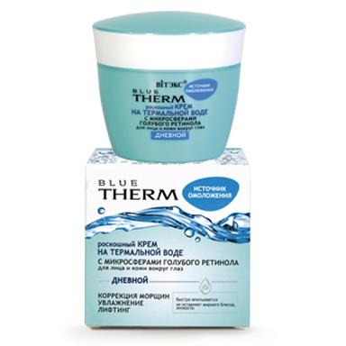 Belita-Vitex | Blue Therm - Luxusní krém z minerálních vod s mikrosférami modrého retinolu na obličej a pokožku kolem očí denní, 45 ml
