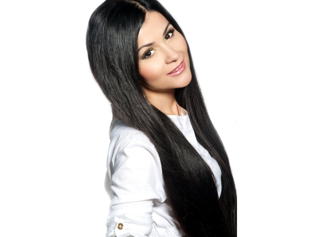 #1 černá deluxe clip-in 60cm 140g  BELLA HAIR