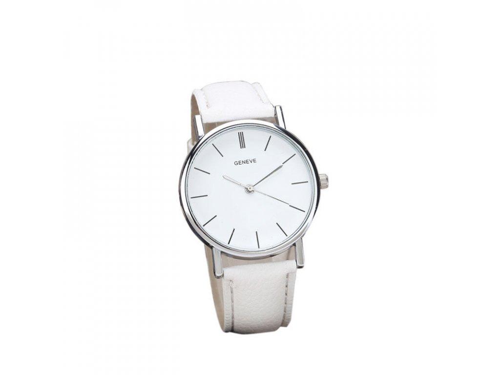 Bílé dámské elegantní hodinky (AKCE 1+1 zdarma) - www.bella-hair.cz 04ed8b14f8