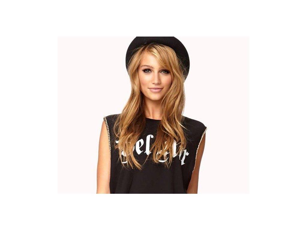 #27 karamelová blond premium clip-in 55cm 120g