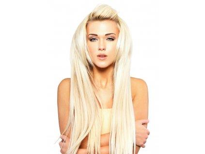 #60 nejsvětlejší blond klasické clip in 40cm 90g