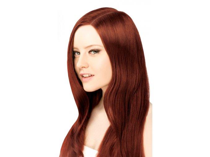 #33 tmavá zrz deluxe clip-in 50cm 100g  BELLA HAIR