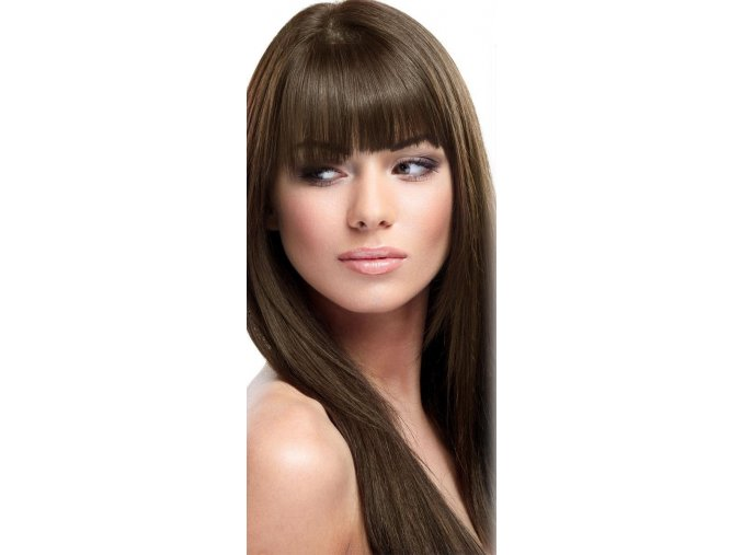 #4 tmavě hnědá deluxe clip-in 50cm 100g  BELLA HAIR