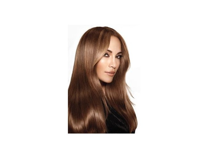 #6 středně hnědá deluxe clip-in 60cm 140g  BELLA HAIR