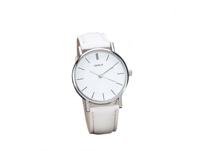 Bílé dámské elegantní hodinky (AKCE 1+1 zdarma)