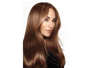 #6 středně hnědá deluxe clip-in 50cm 100g  BELLA HAIR