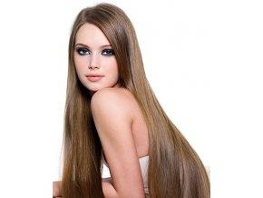 #8 světle hnědá deluxe clip-in 50cm 100g  BELLA HAIR