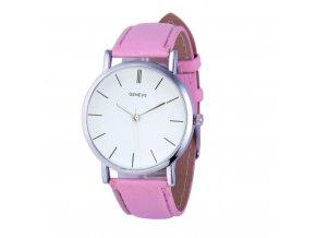 Růžové dámské elegantní hodinky (AKCE 1+1 zdarma)