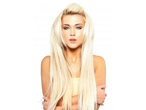 #60 nejsvětlejší blond premium clip in 50cm 100g