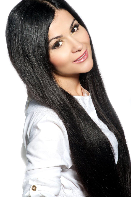 #1 černá deluxe clip in 50cm 100g BELLA HAIR