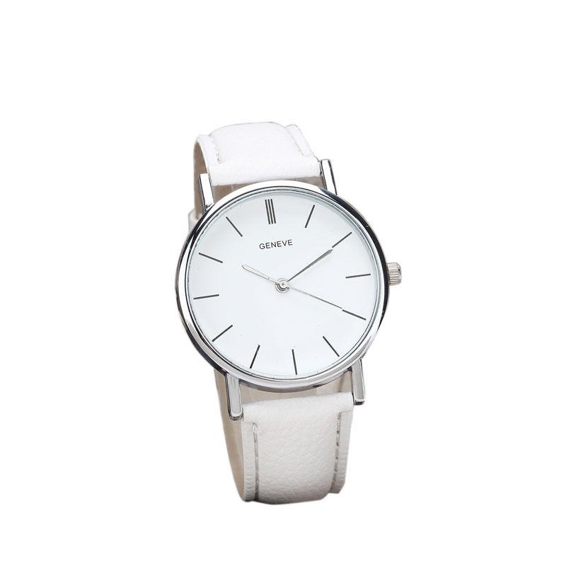 Bílé dámské elegantní hodinky