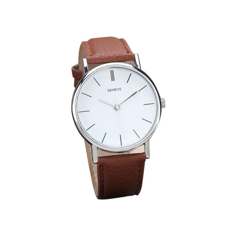 Hnědé dámské elegantní hodinky