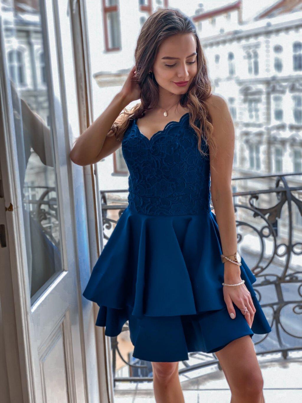 -Dámské šaty Genny Temně modrá,XS/S