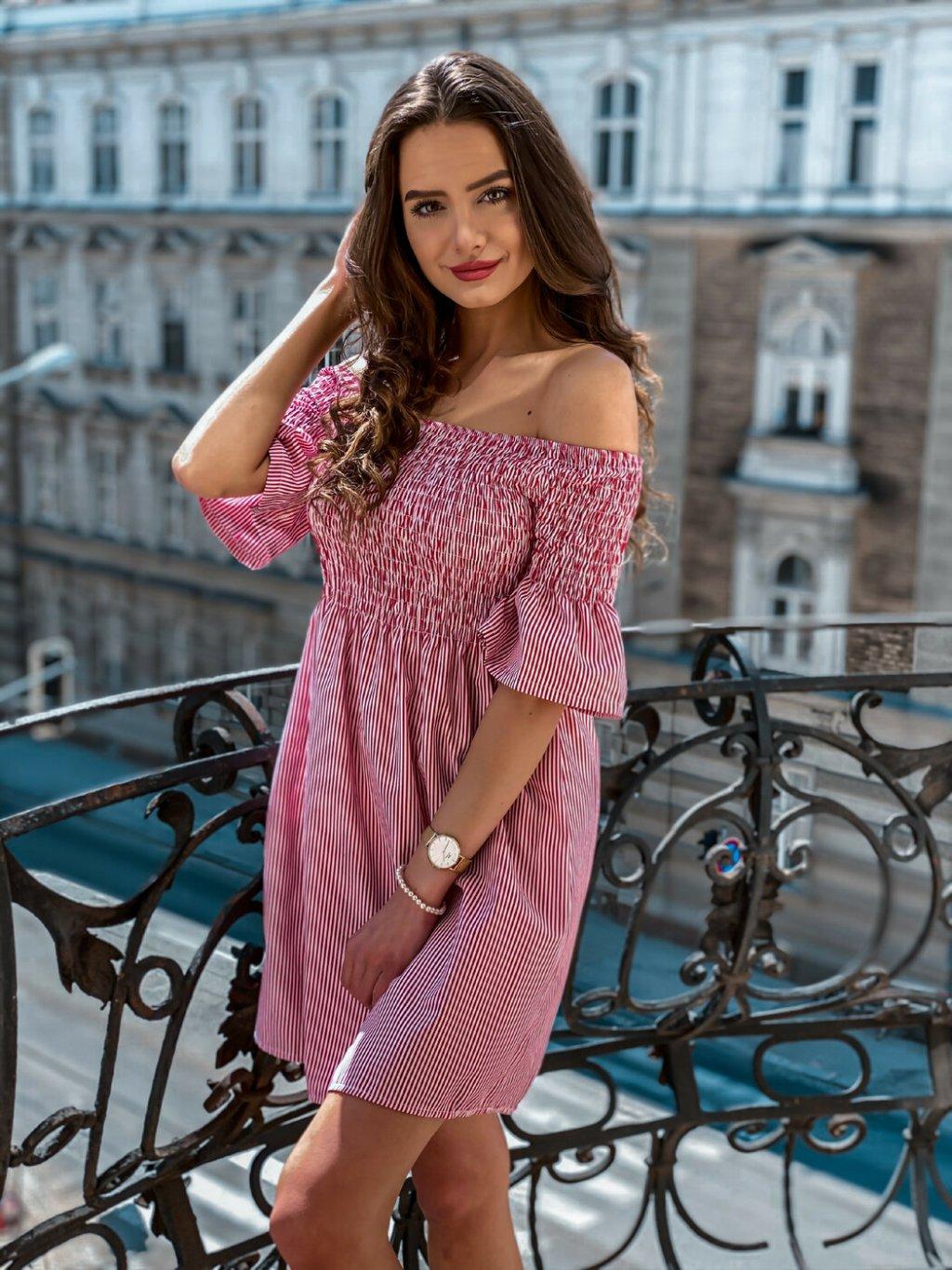 -Dámské šaty Catrin Světle růžová
