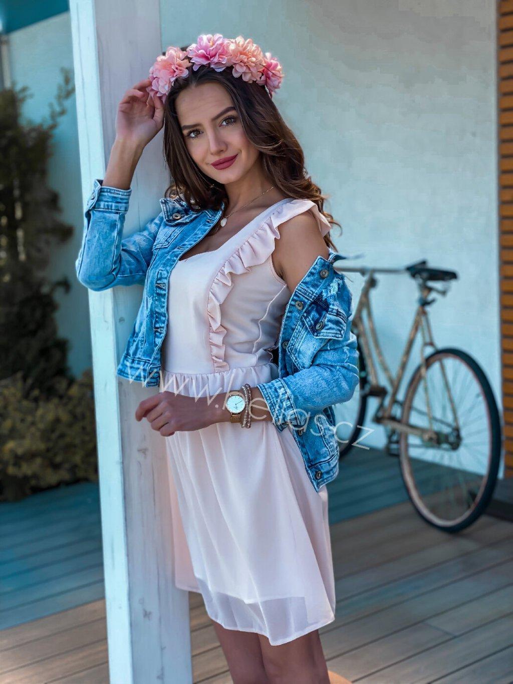 -Dámské šaty Molly Exclusive Světle růžová,XS