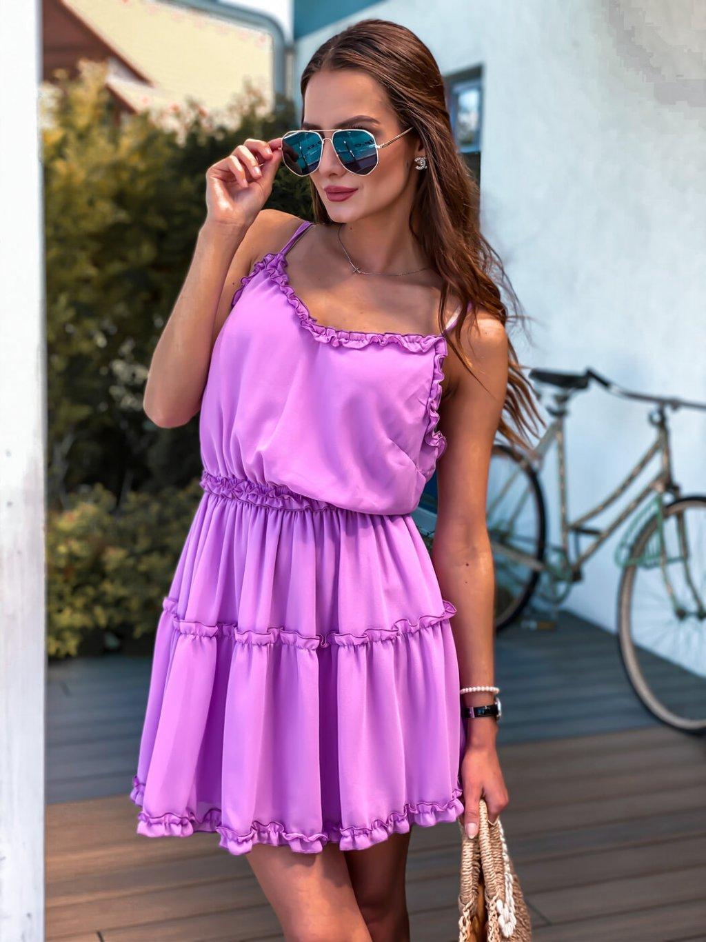 -Dámské šaty Valentinni Fialová