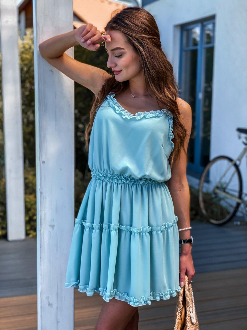 -Dámské šaty Valentinni Mentol