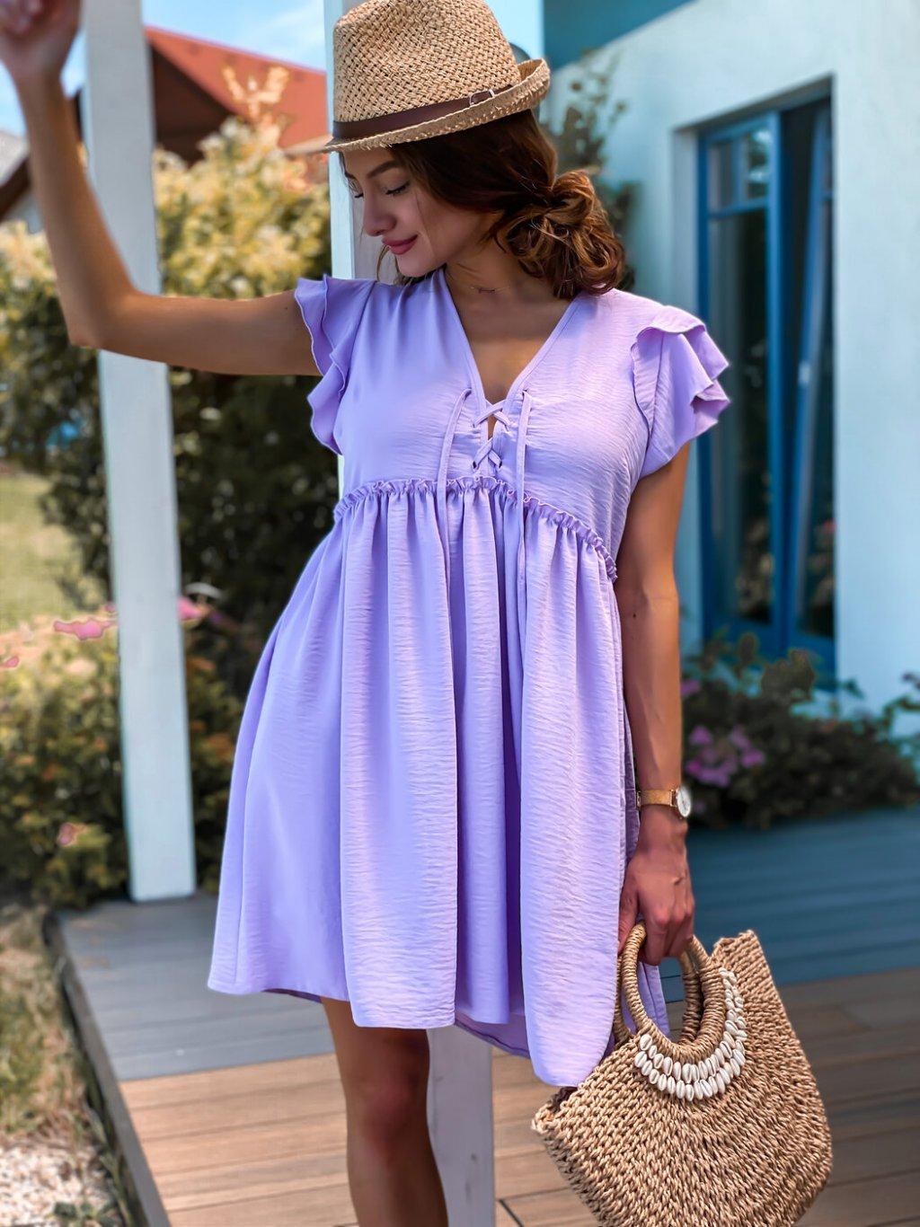 -Dámské šaty Bohoo Lila