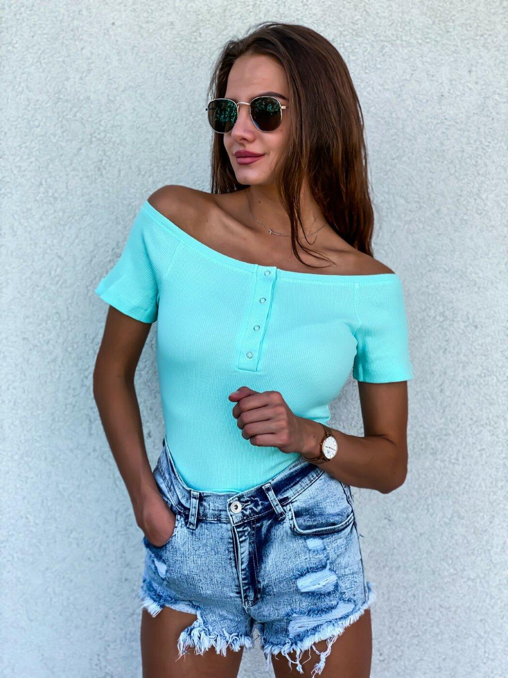 -Dámské tričko se cvočky Mint