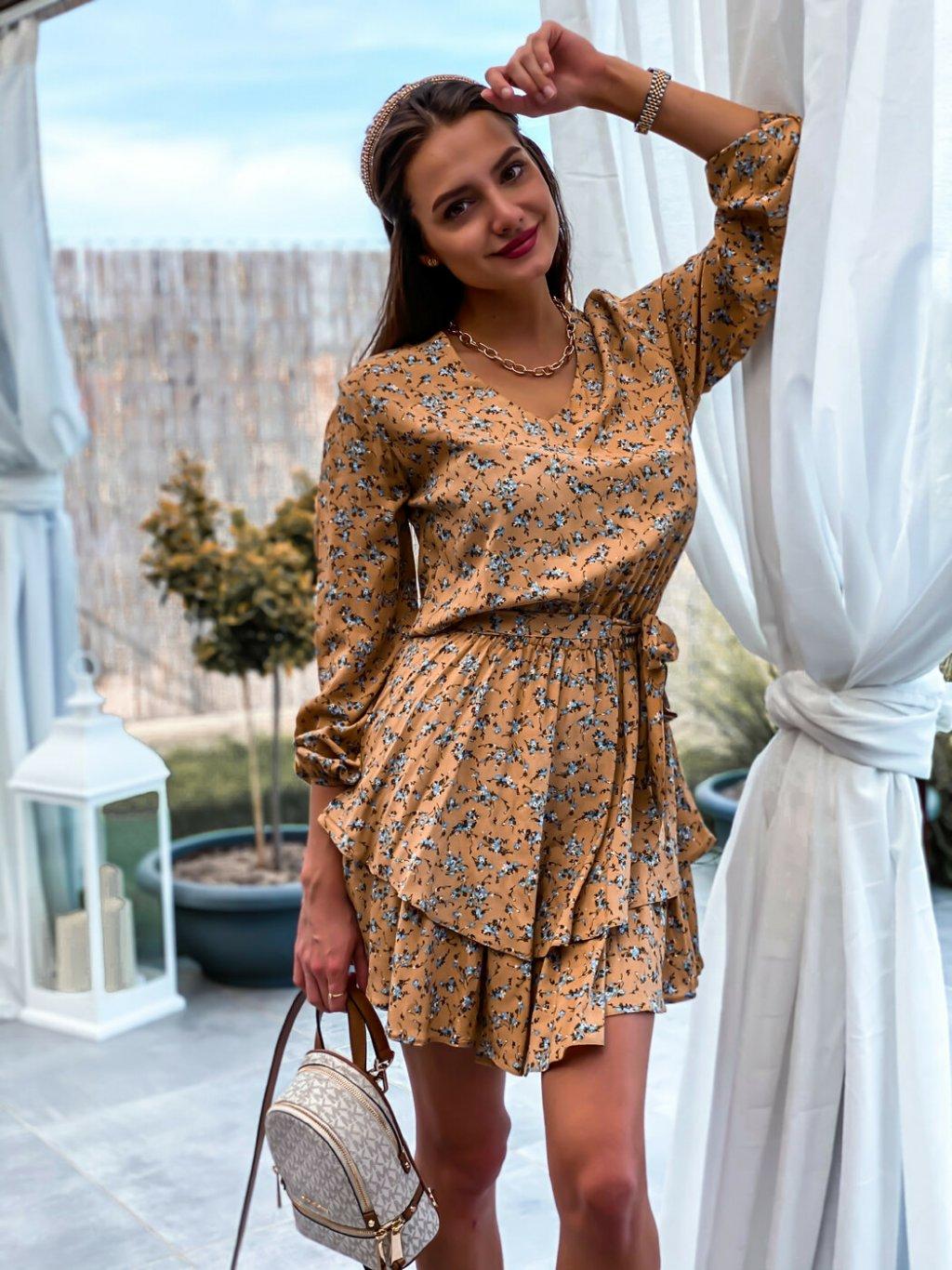 -Dámské květované šaty Retro XS/S