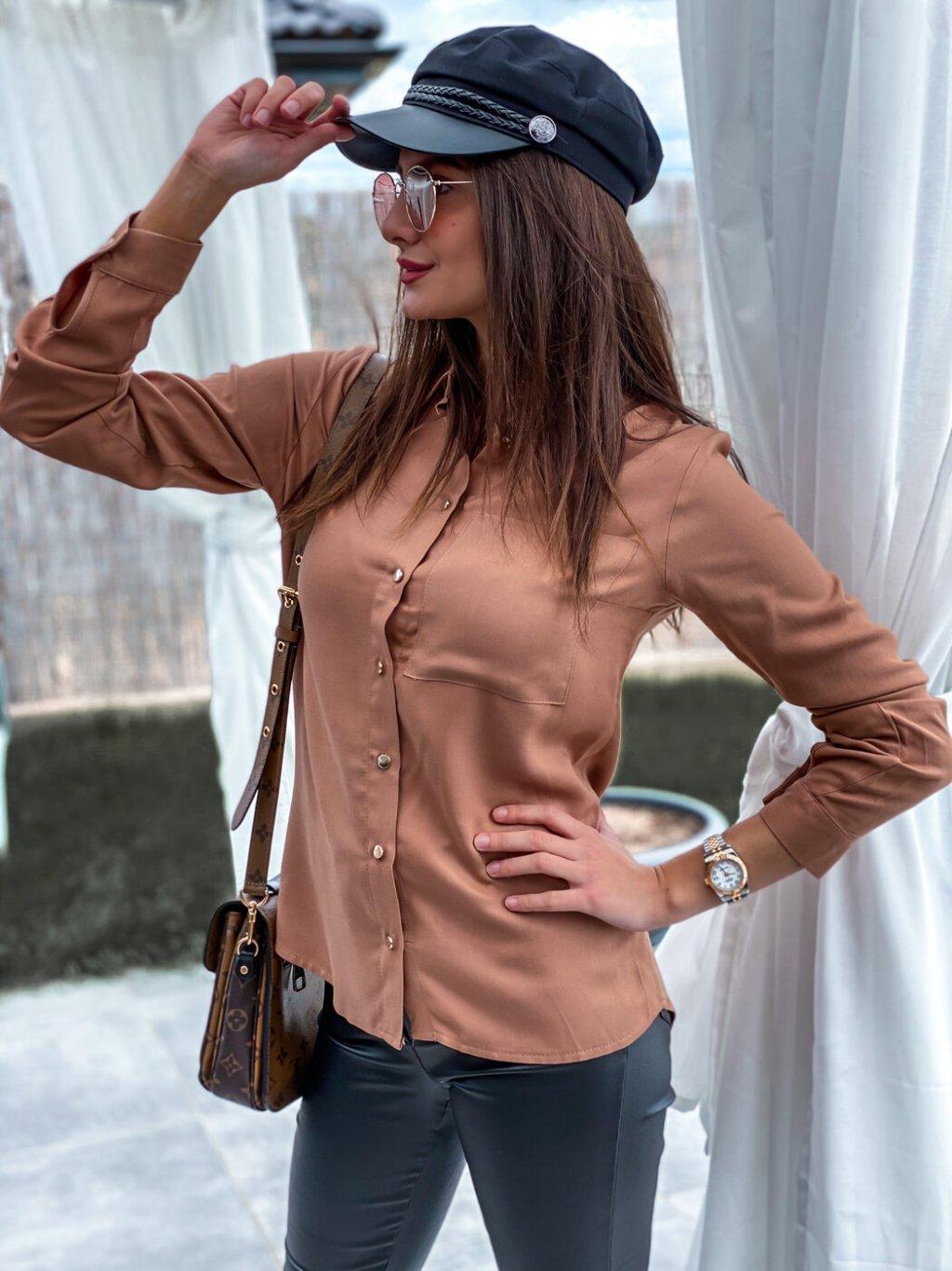 -Dámská košile Pura Camel,XS/S
