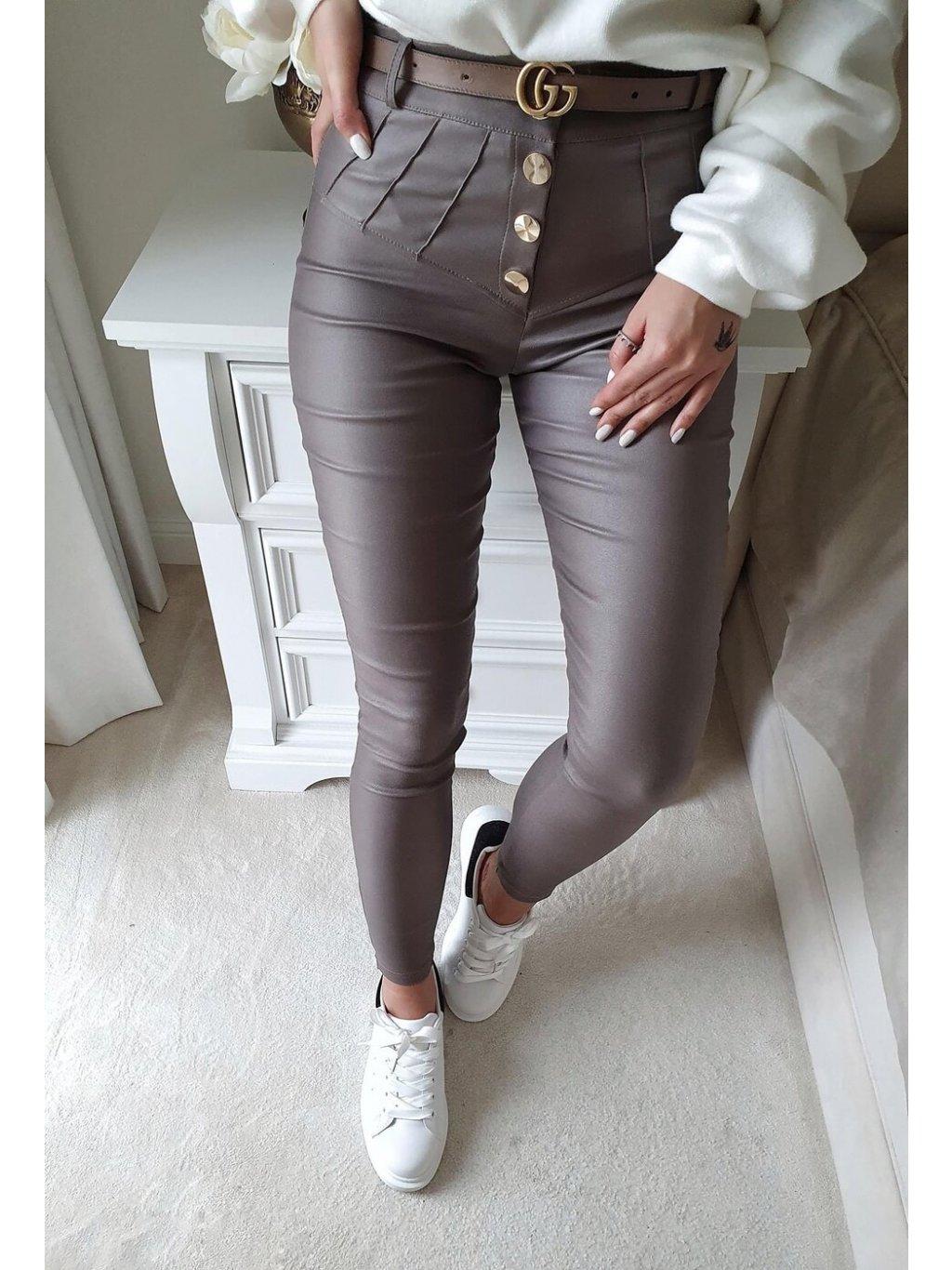 -Dámské kalhoty VOXX LIMITED Mocca XS