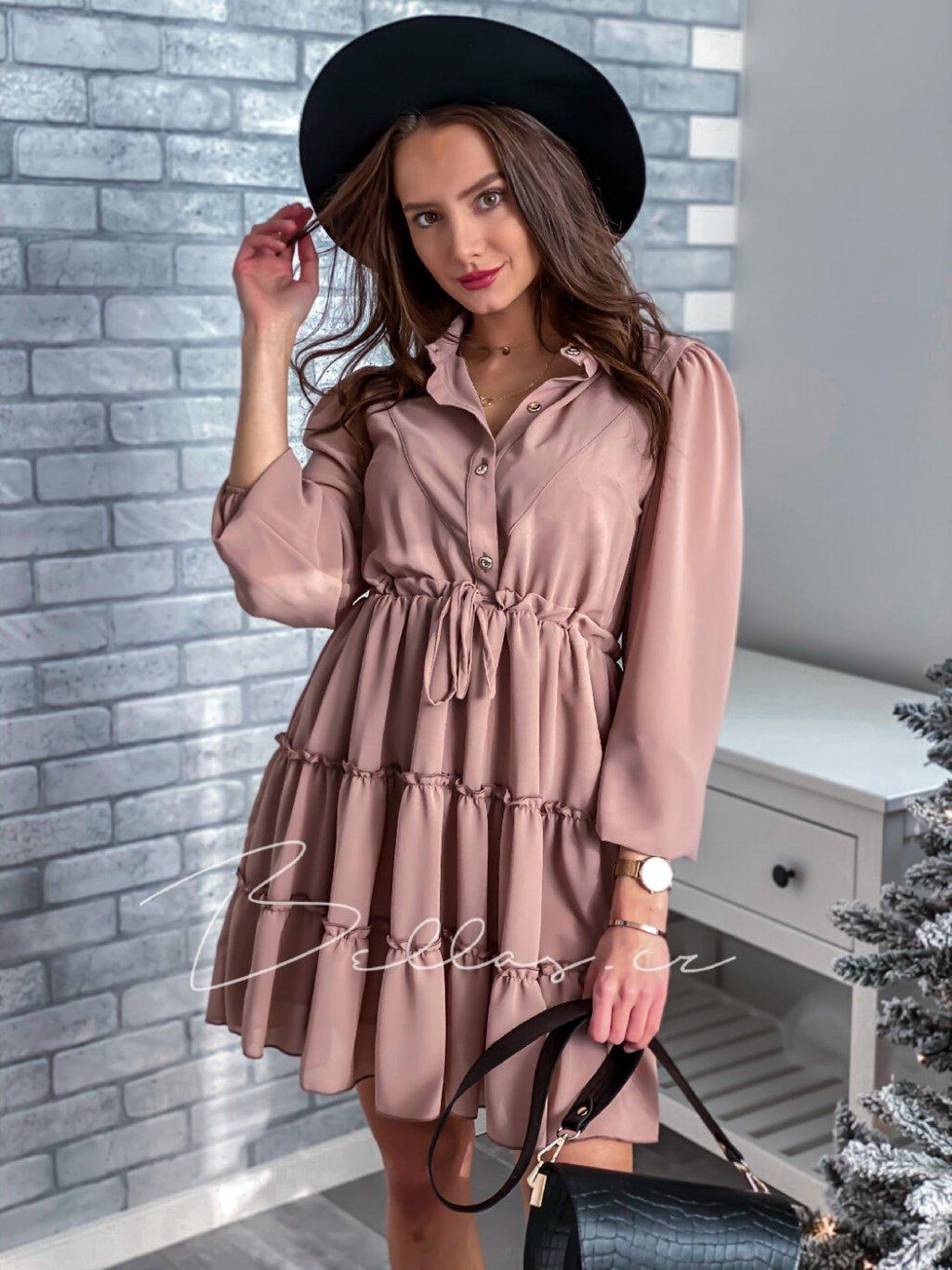 -Dámské šaty Ola Světle růžová,XS/S