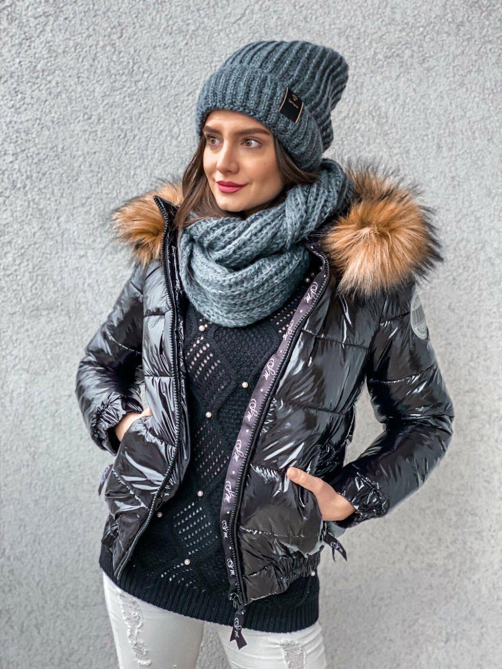 -Dámská zimní bunda Lola s kožíškem XS