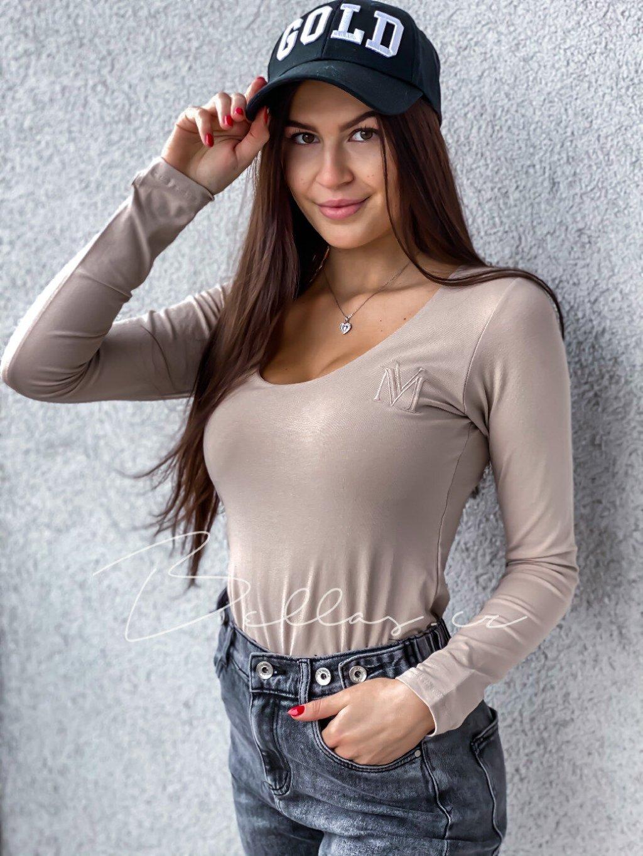 -Dámské basic tričko M Černá