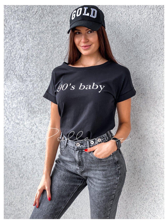 -Dásmké tričko Baby Černá