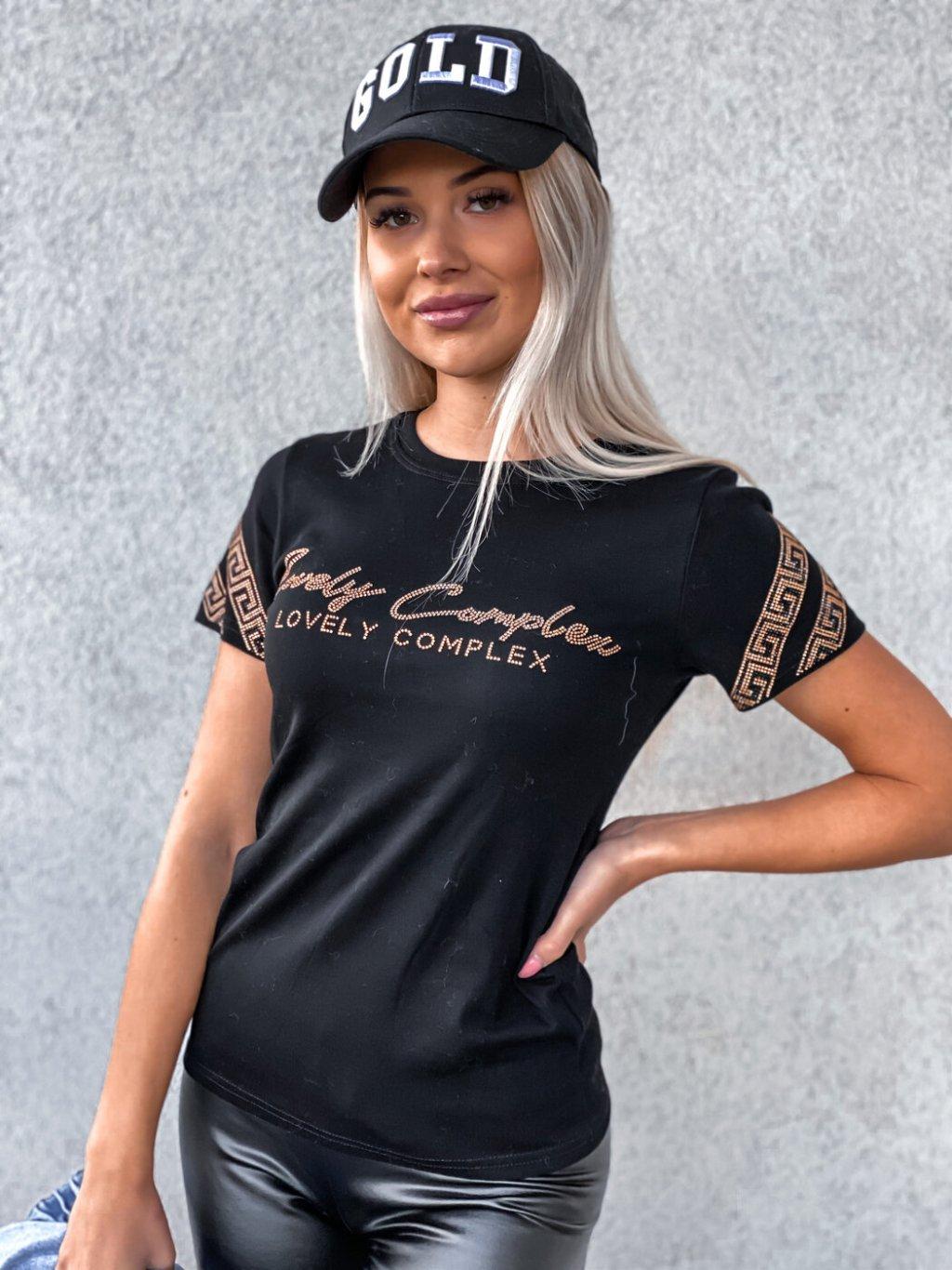 -Dámské tričko Black S