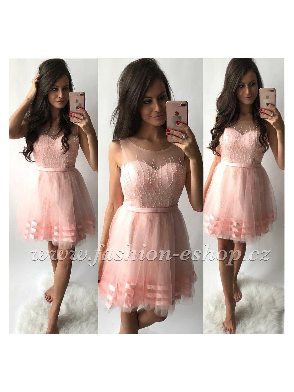 -Dámské společenské šaty Love Světle růžová,M