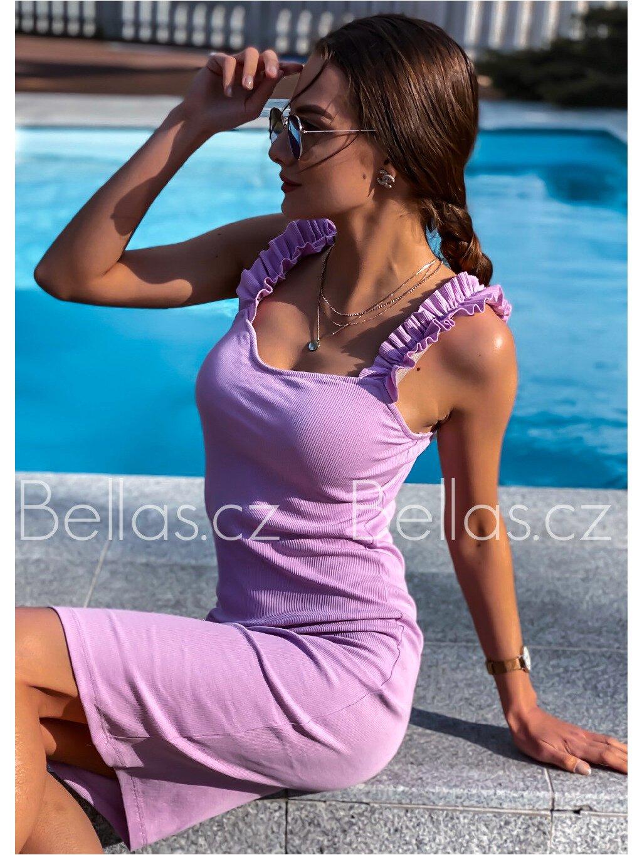-Dámské šaty Summer Červená