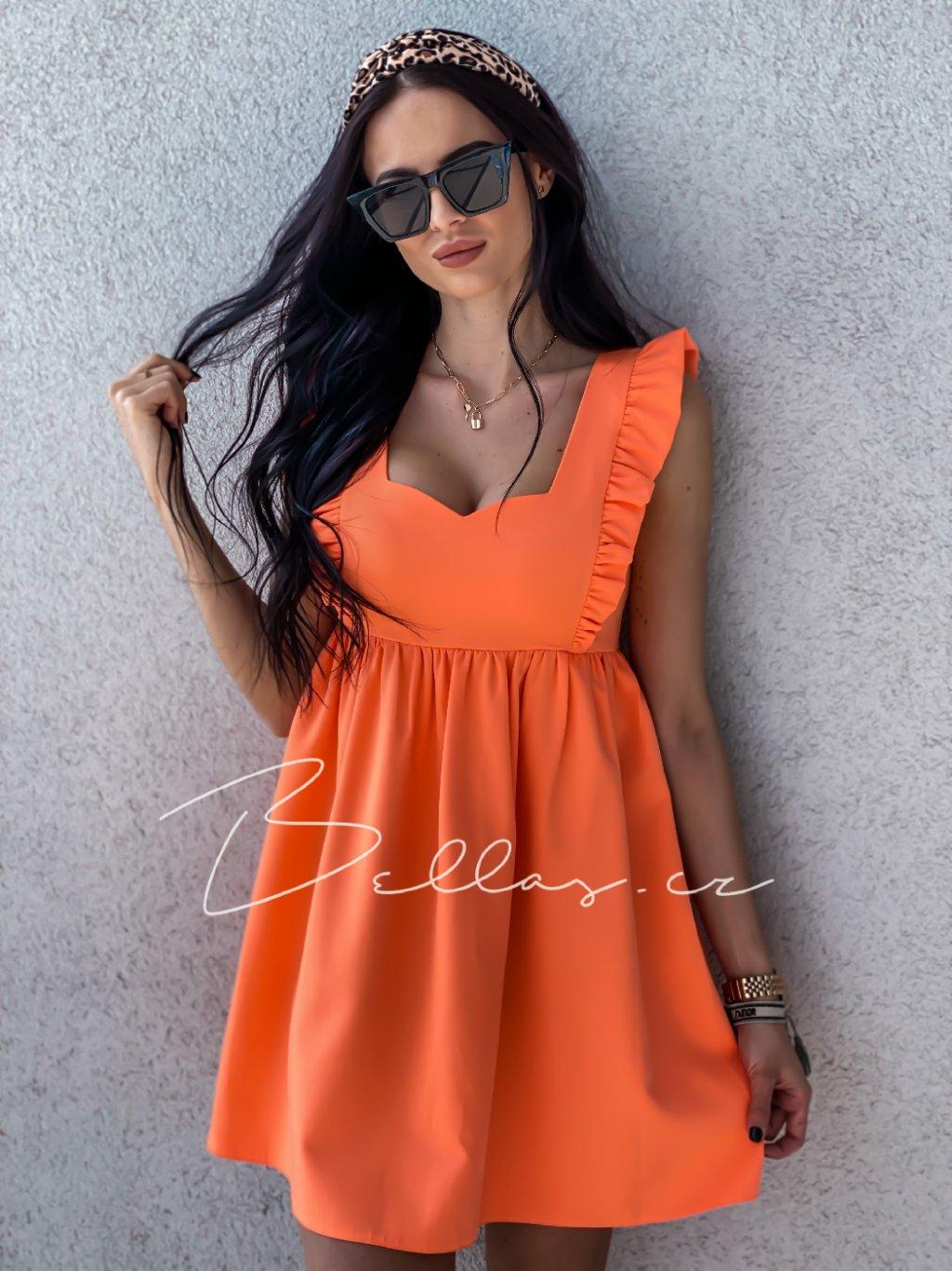Dámské šaty Emma exclusive/ Oranžová