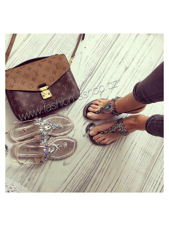 -Nádherné sandálky CITY Černá,37