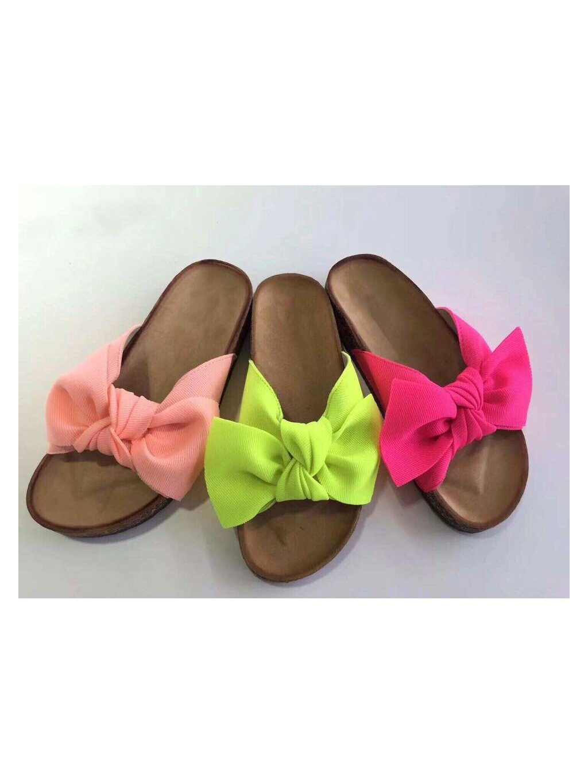-Stylové pantofle Lososová,36