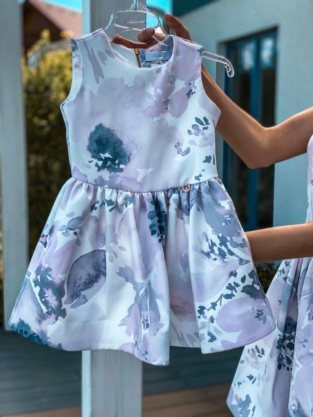 -Společenské šaty mama & dcera 128