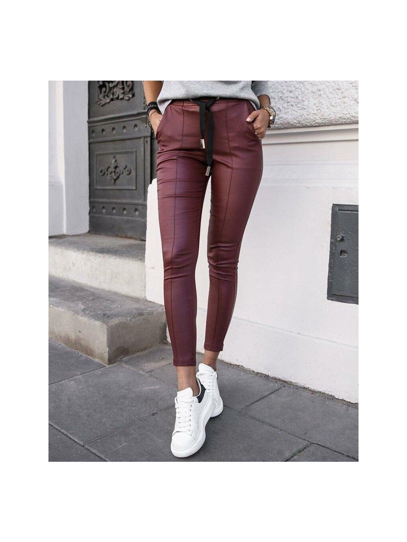 -Dámské kalhoty Glam Bordo,S