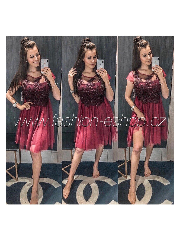 -Dámské společenské šaty Ester Světle růžová