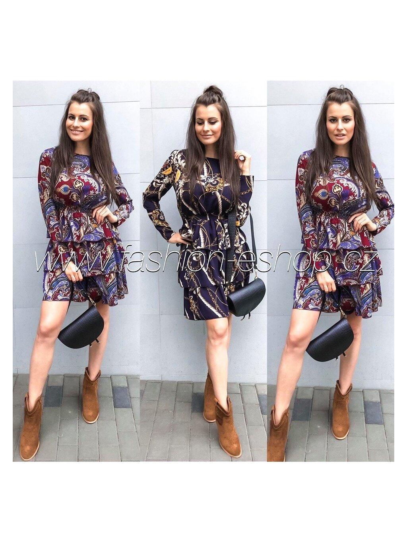 -Dámské šaty Luxury Bordo,M