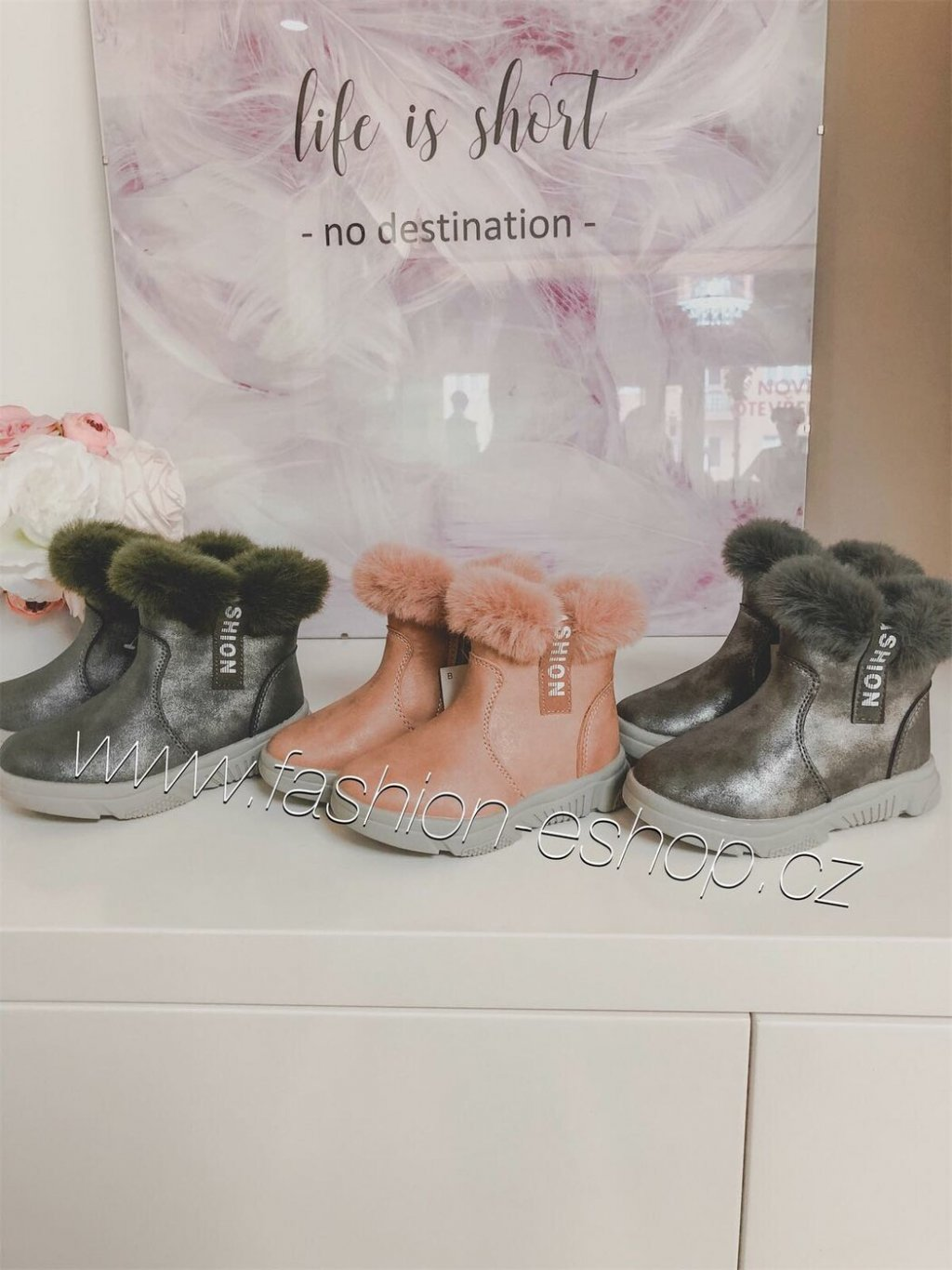 -Dětské zimní botičky světle růžuvá,26