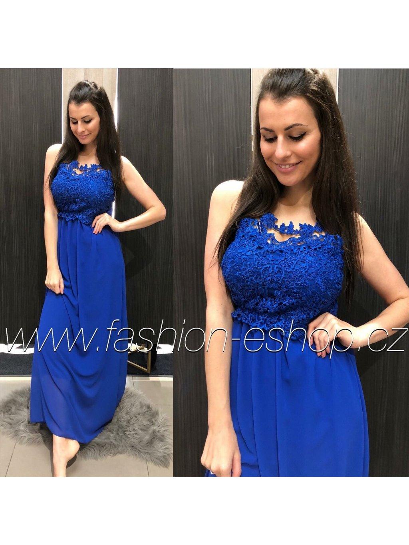 -Dámské šaty Emily Long Královsky modrá