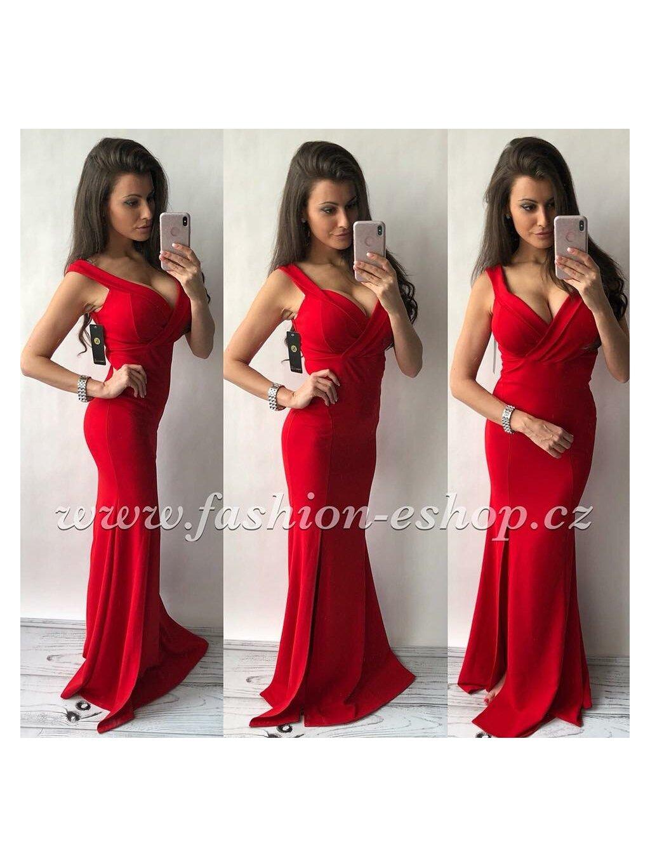-Dámské dlouhé šaty Světle růžová