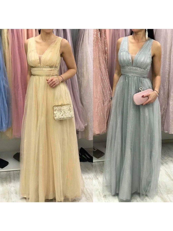 -Dámské společenské šaty Shine Zlatá,XS/S