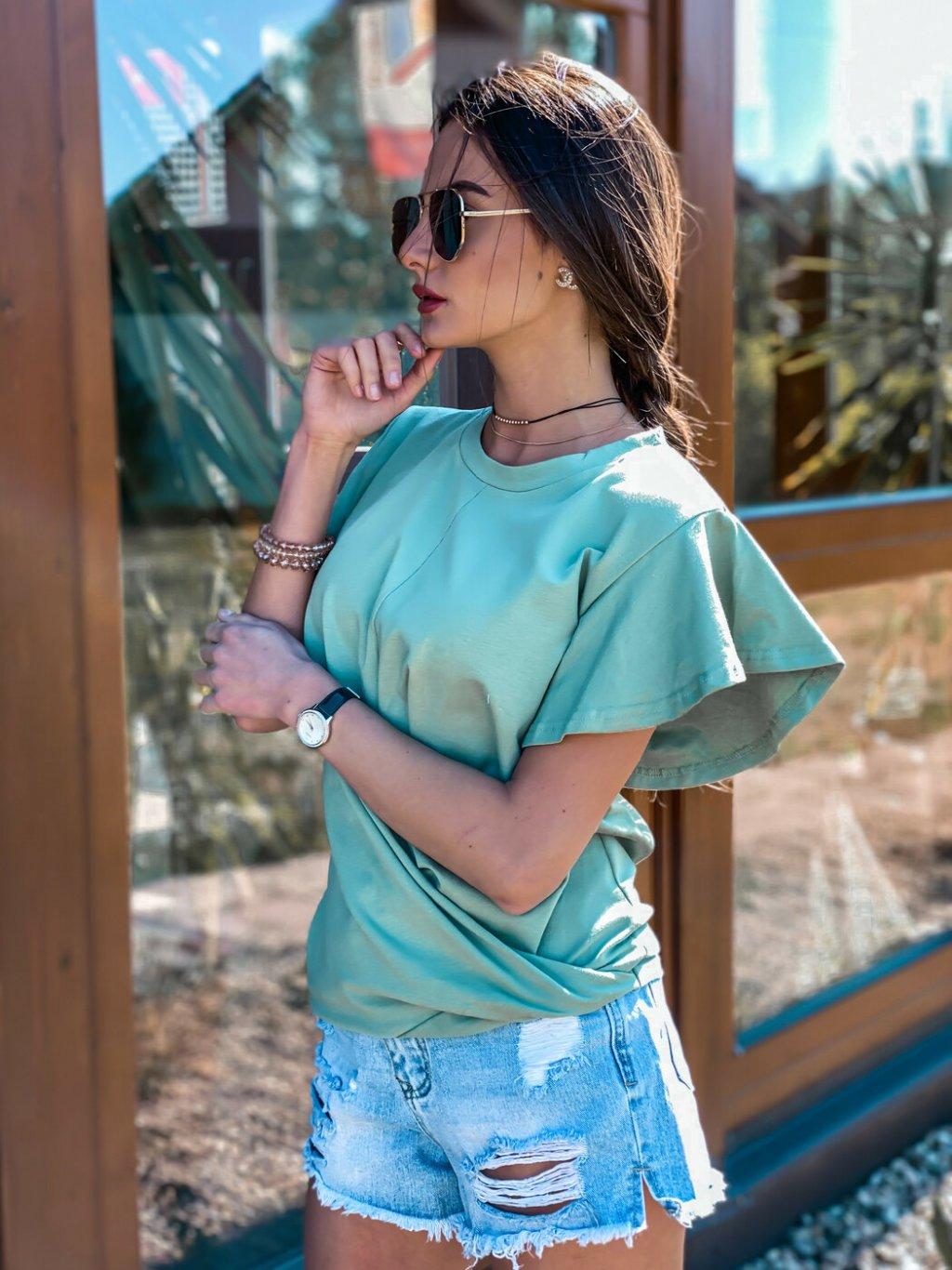 -Dámské tričko Lala Khaki,S/M