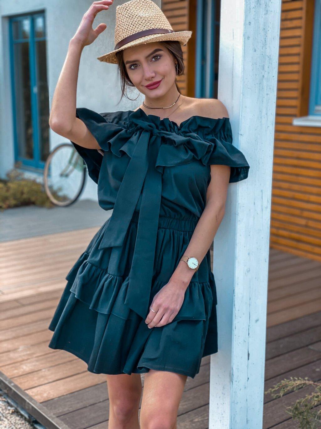 -Dámské šaty Olivia Červená