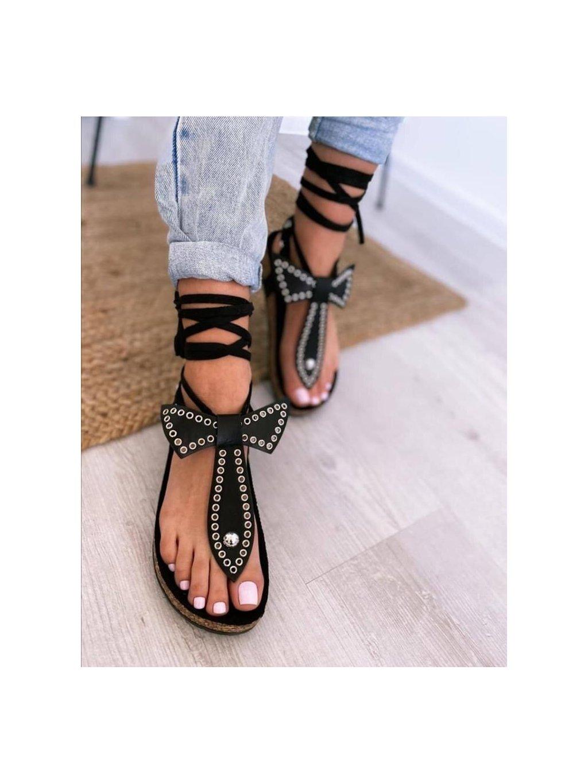 -Dámské sandály Look Black 36