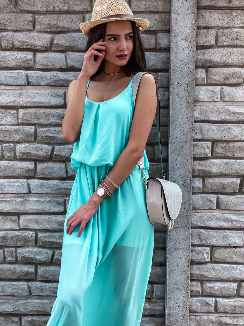 -Dámské šaty Classic Tyrkysová
