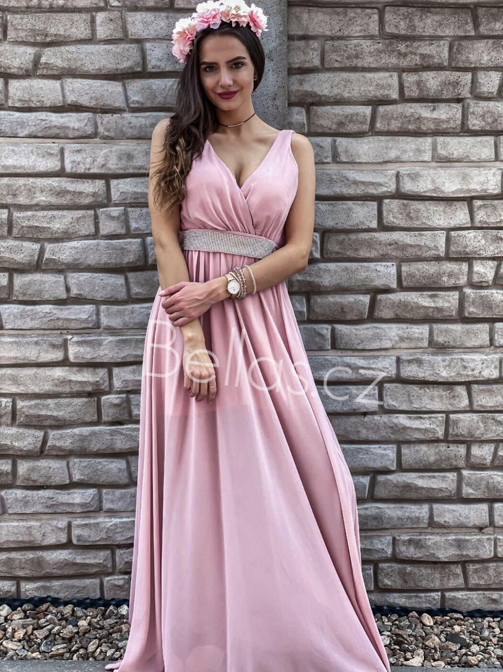 -Dámské šaty Katrina Světle růžová