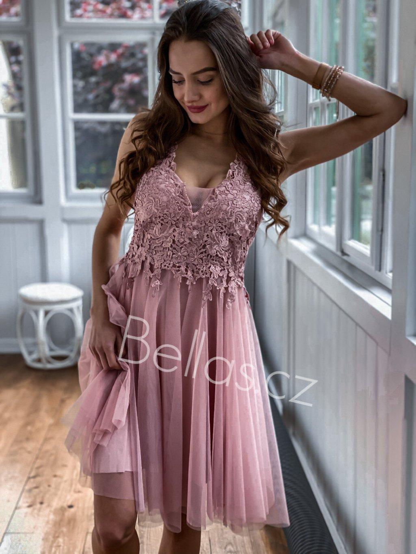 -Dámské šaty Emily 2 Světle růžová